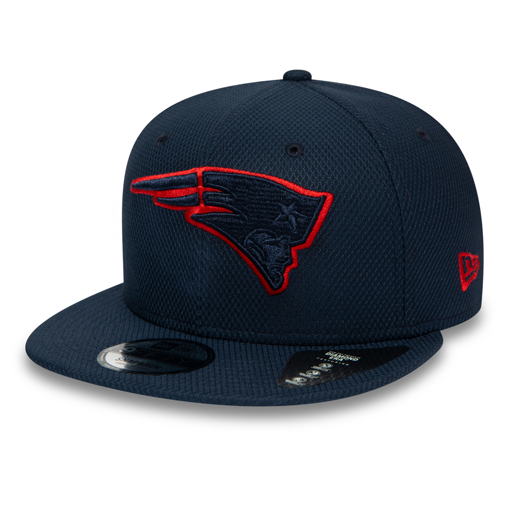 New England Patriots – Marineblaue Outline 9FIFTY-Kappe mit Clipverschluss