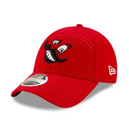 Gorra Cincinnati Reds Element Logo Stretch 9FORTY con botón de presión