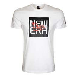 Camiseta con logotipo New Era Stacked Script, blanco
