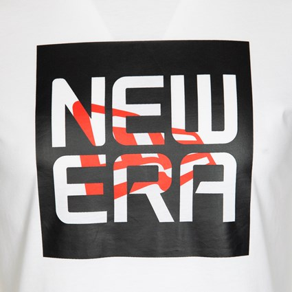 New Era Stacked Script White Table T-Shirt