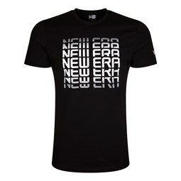 Camiseta con logotipo New Era Wordmark, negro