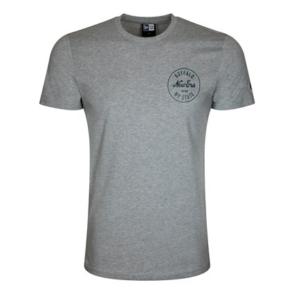 New Era Buffalo Logo Grey Table T-Shirt