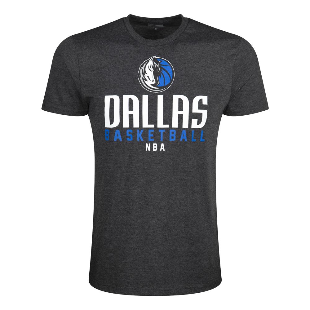 T-shirt avec inscription Dallas Mavericks gris