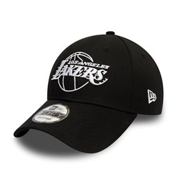 Cappellino 9FORTY Essential Outline dei Los Angeles Lakers nero