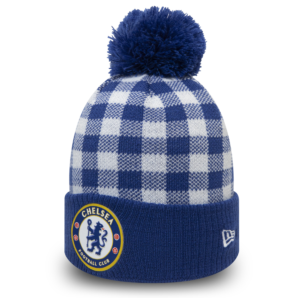Chelsea FC Blue Checkered Knit