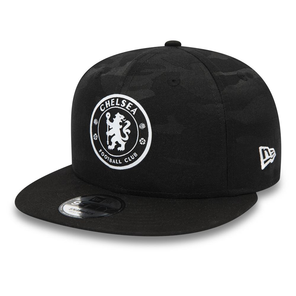 Casquette 9FIFTY noire camouflage Chelsea FC