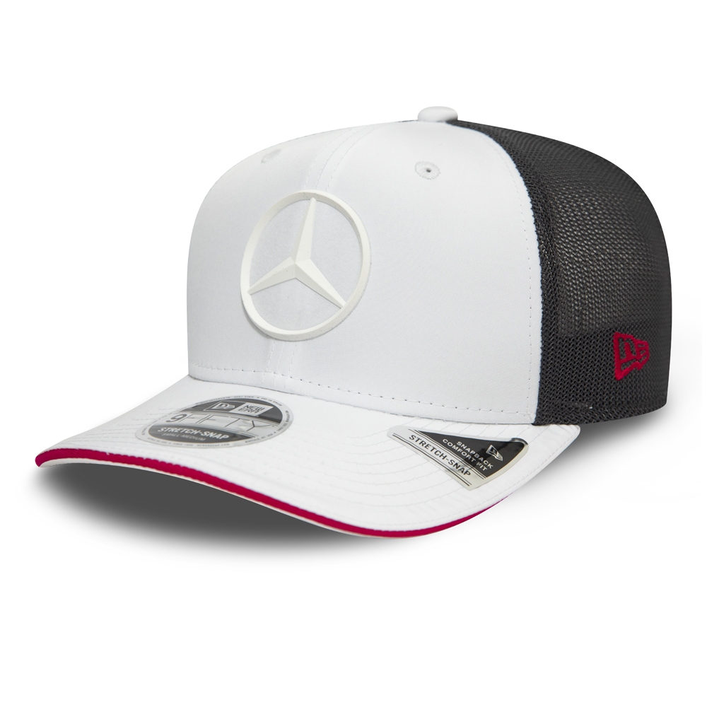 Mercedes-Benz E Sport White Stretch Snap 9FIFTY Cap