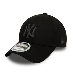 New York Yankees Reflective 9FORTY-Kappe in Schwarz