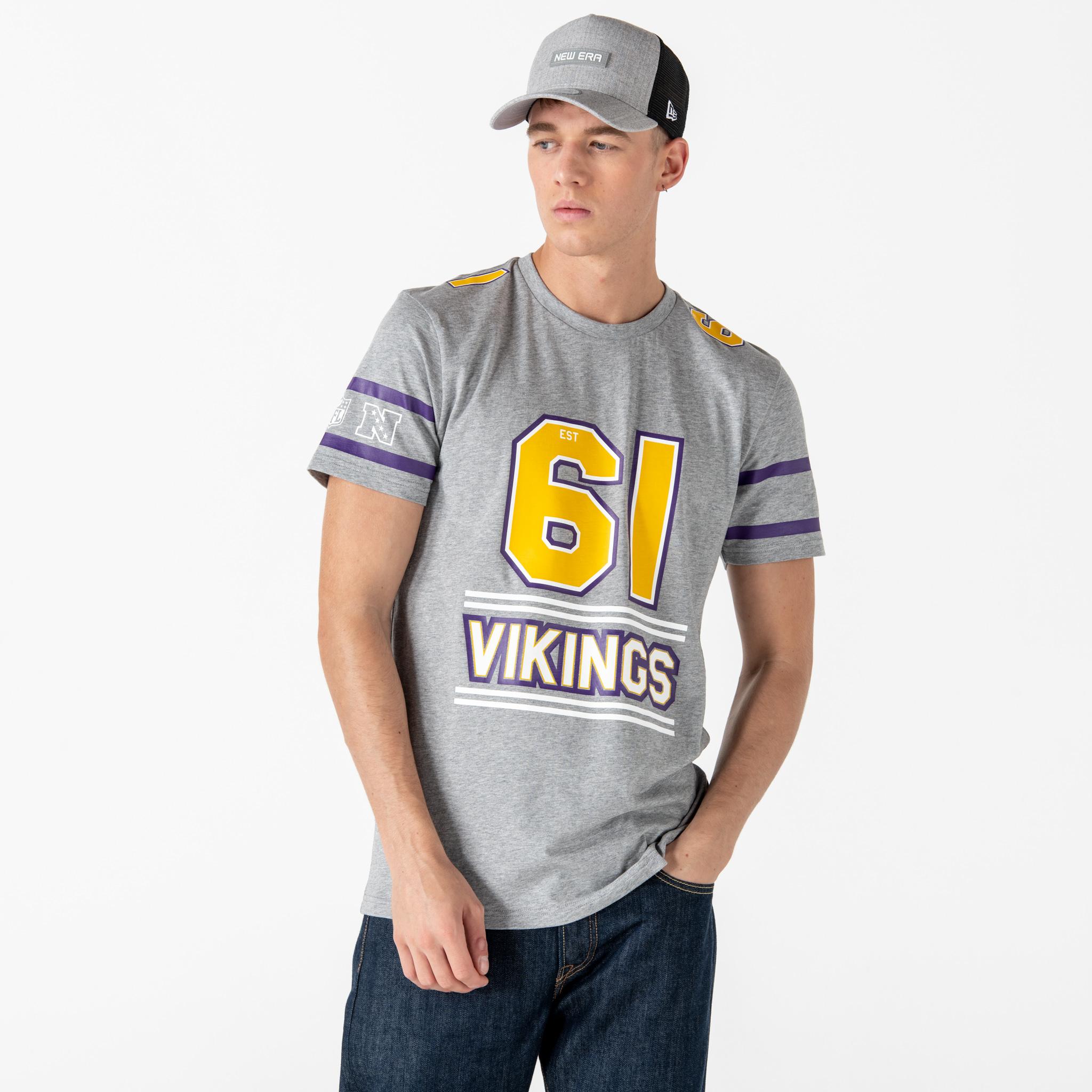 Minnesota Vikings Team Established  T-Shirt - Grau