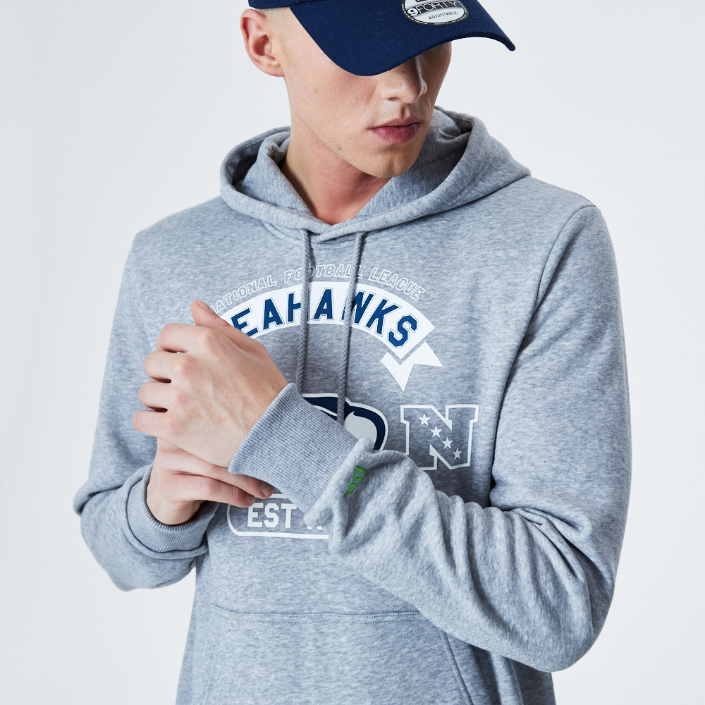 Seattle Seahawks Graphic Grey Hoodie