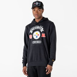 Sweat à capuche gris anthracite Pittsburgh Steelers