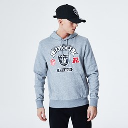 Oakland Raiders Graphic Grey Hoodie