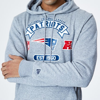 New England Patriots Graphic Grey Hoodie