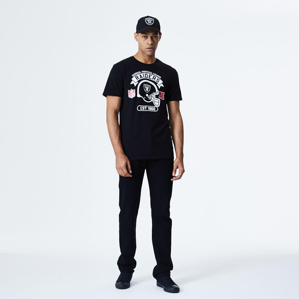 Oakland Raiders Helmet T-Shirt - Schwarz