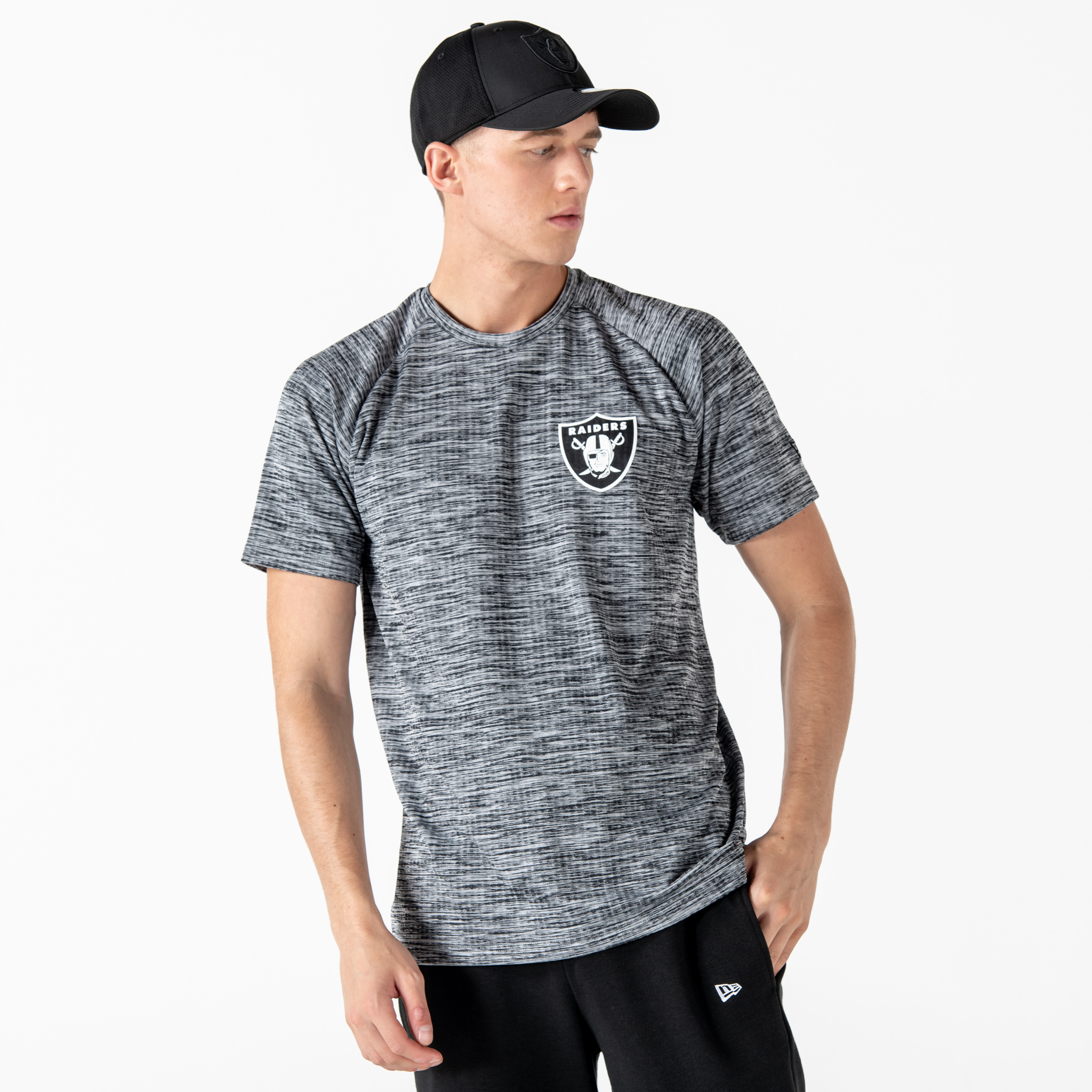 T-shirt gris technique Oakland Raiders