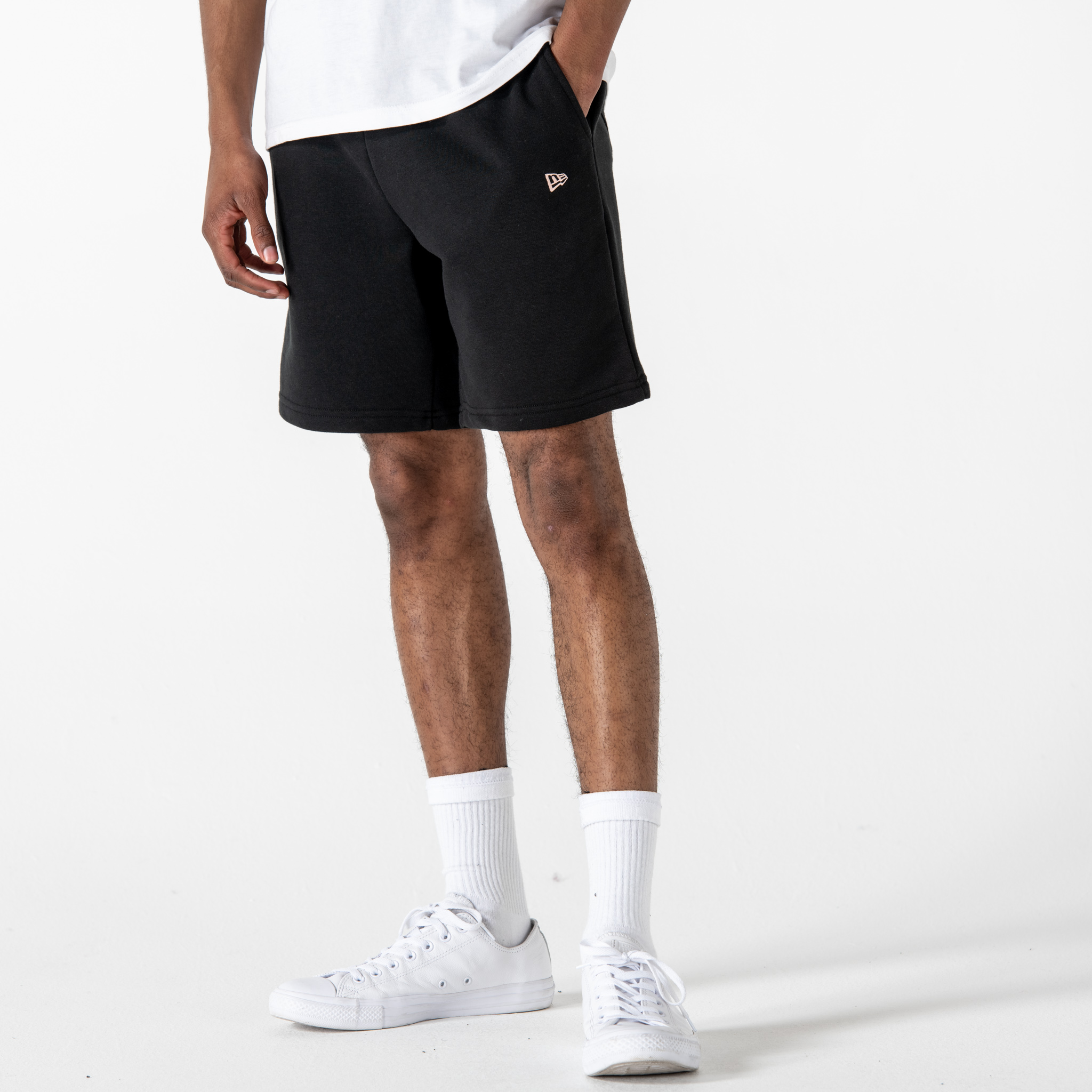 Shorts New Era Heritage, negro