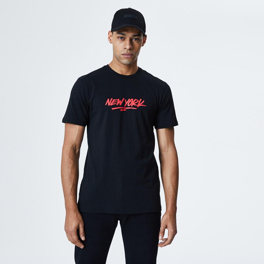 Camiseta New Era New York Graphic, negro