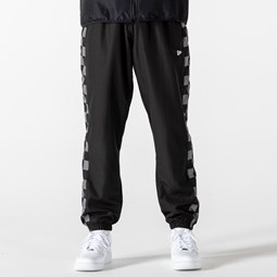 New Era Checkered Panel Black Joggers