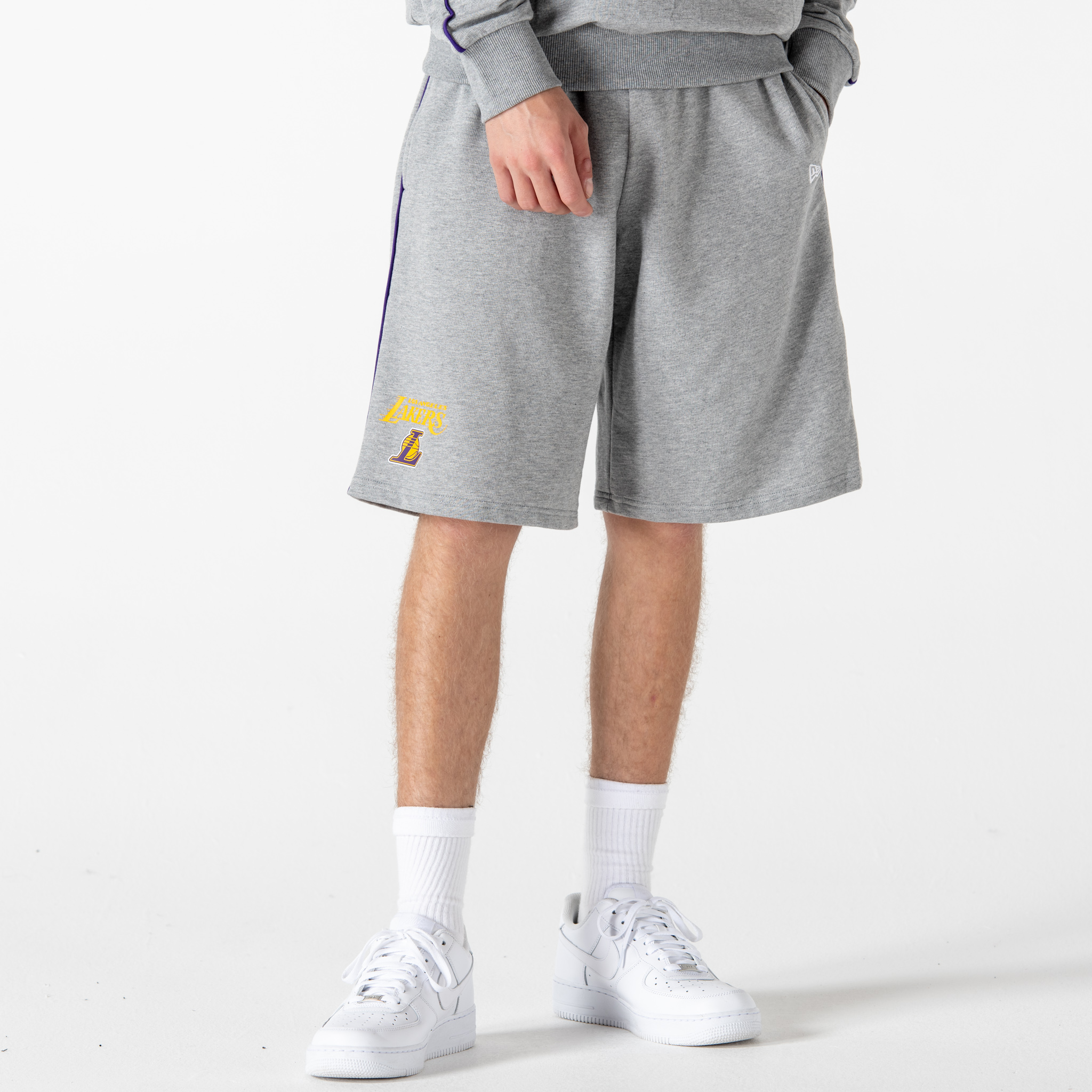 Short coutures contrastées Los Angeles Lakers