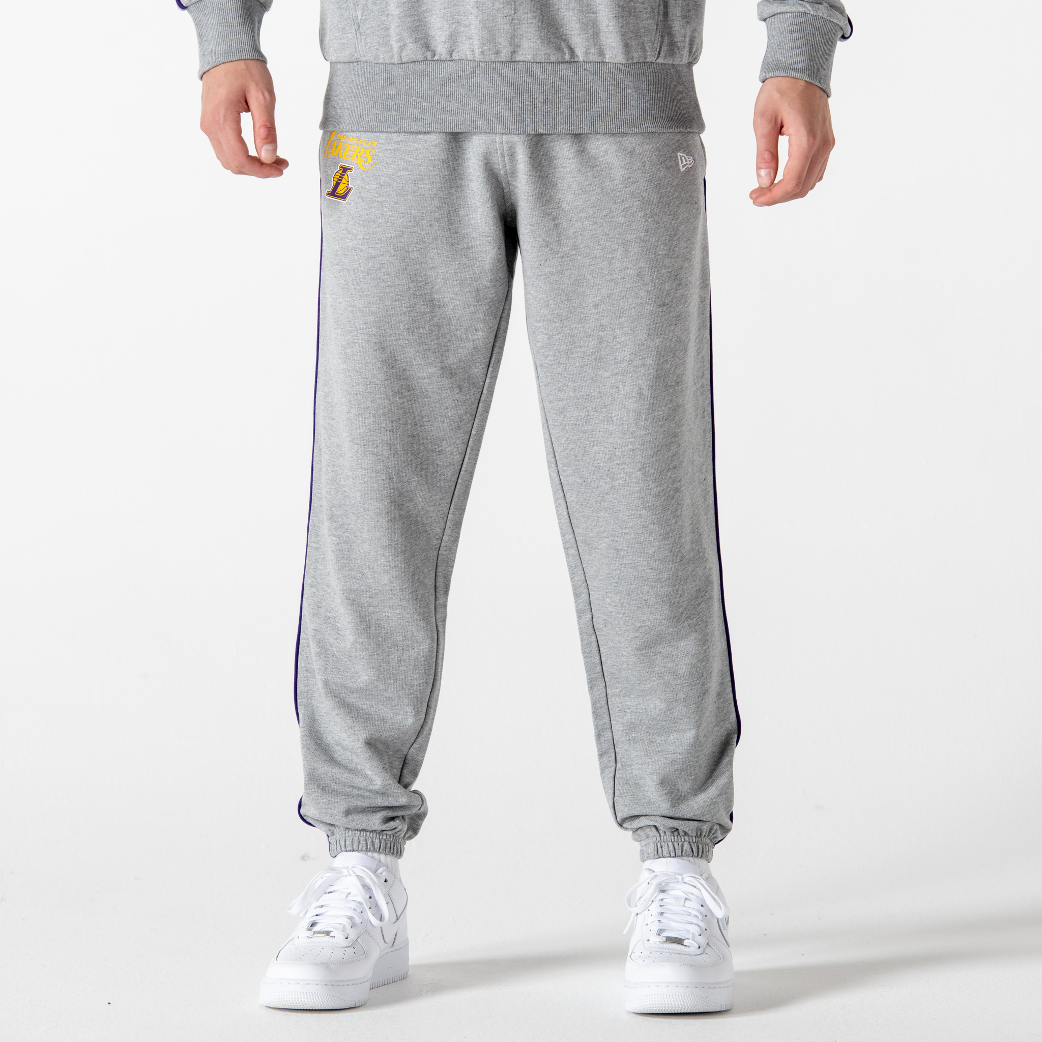 Pantalón de chándal Los Angeles Lakers Piping Detail, gris