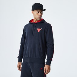 Chicago Bulls Piping Detail Grey Hoodie