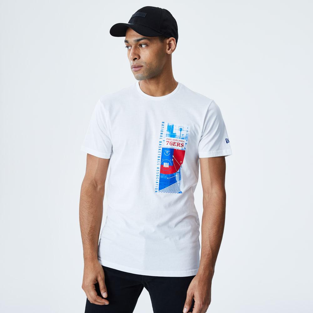 Philadelphia 76ERS – Weißes T-Shirt mit Foto-Print