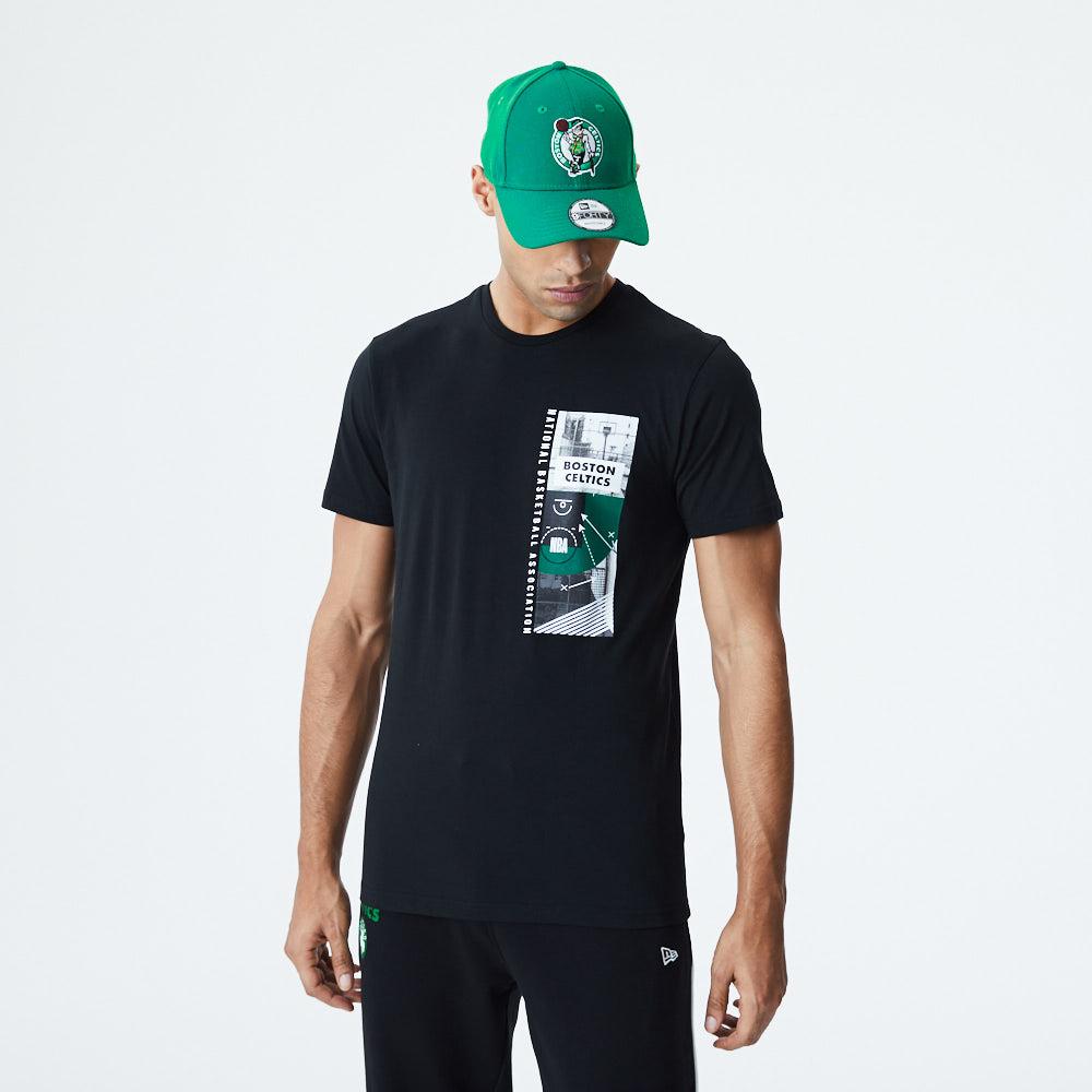 Boston Celtics– Schwarzes T-Shirt mit Photo-Print
