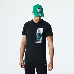 T-shirt noir imprimé photo Boston Celtics
