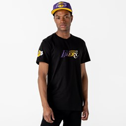 T-shirt Gradient Workmark Los Angeles Lakers nera