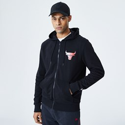Chicago Bulls Gradient Wordmark Black Hoodie