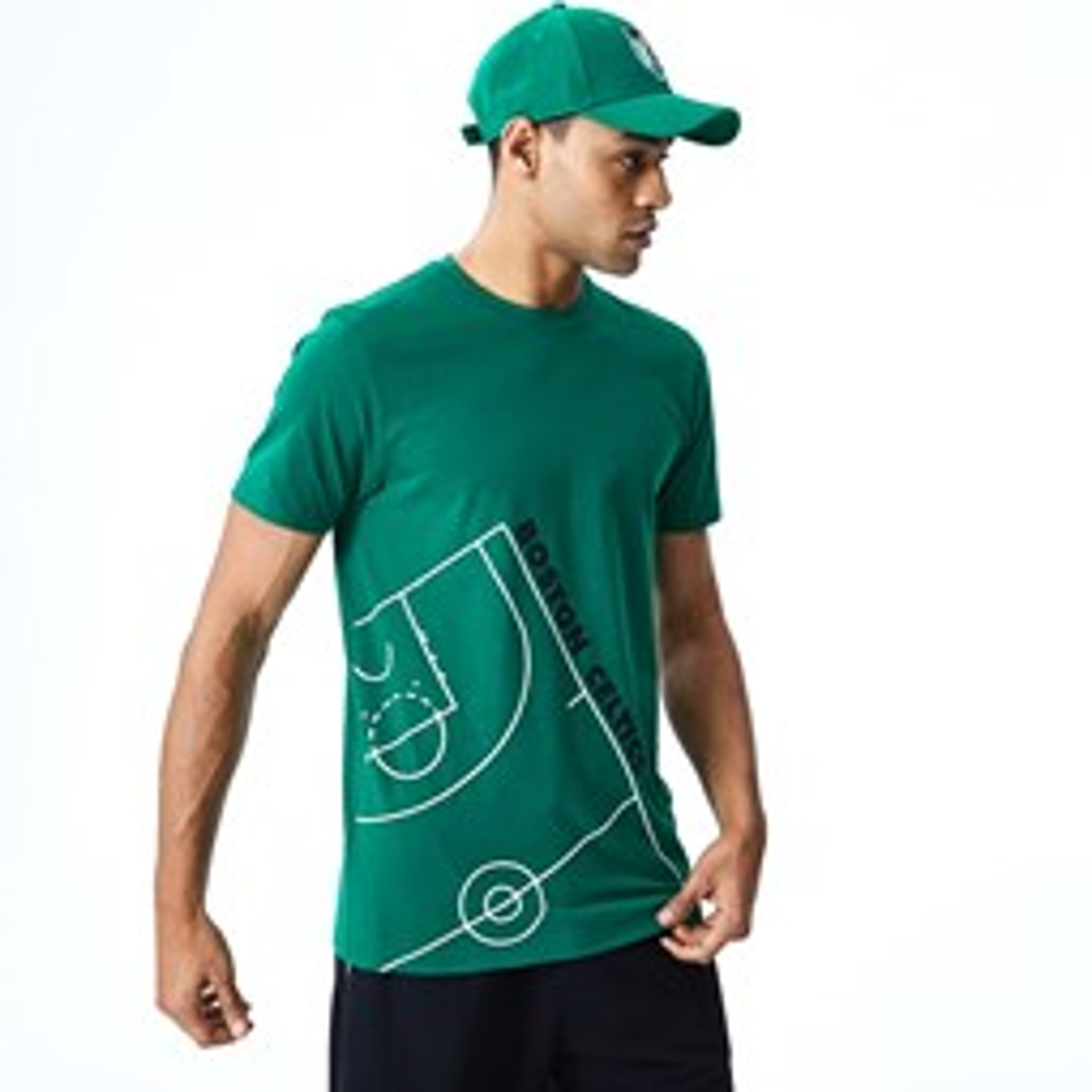 T-shirt Boston Celtics  NBA Court verde