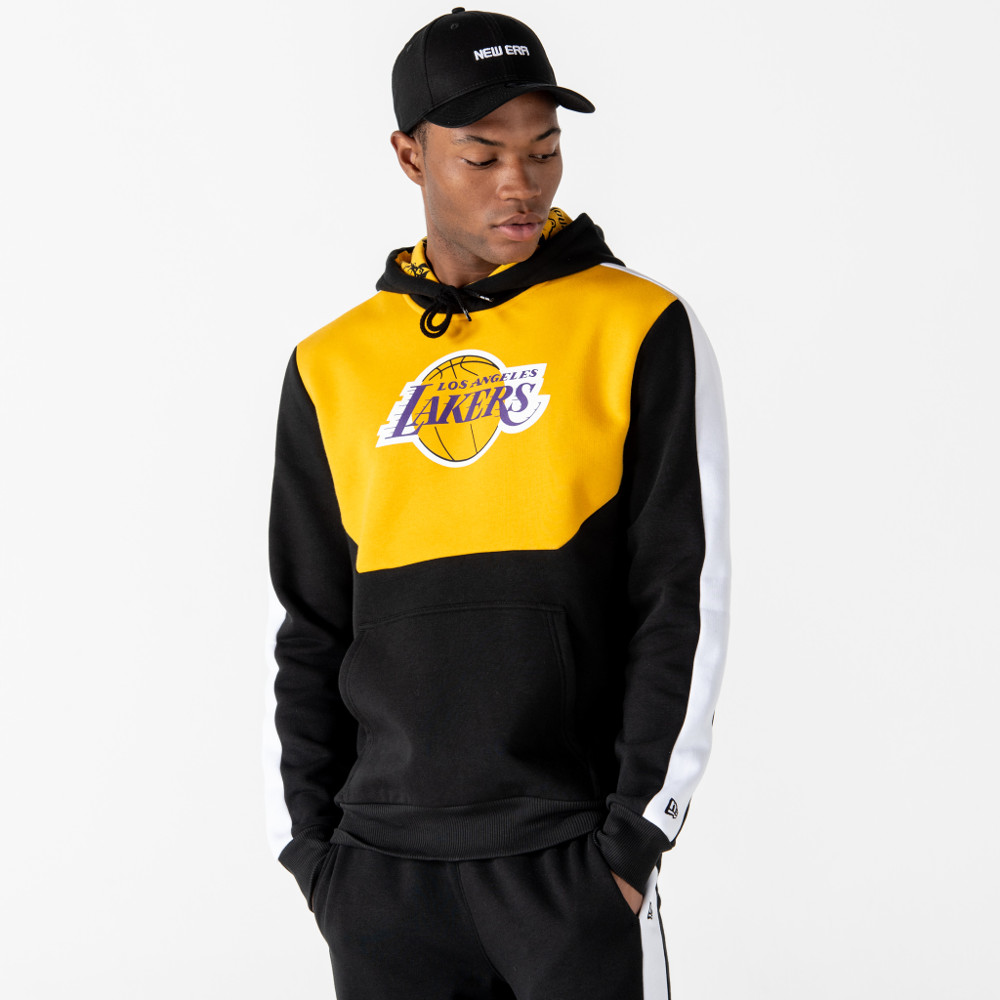Felpa con cappuccio Colour Block Los Angeles Lakers