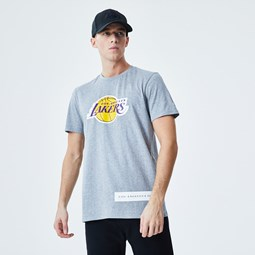 T-shirt Block Wordmark Los Angeles Lakers grigia
