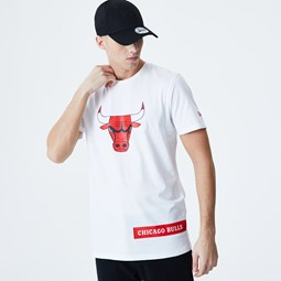 Camiseta Chicago Bulls Block Wordmark, blanco