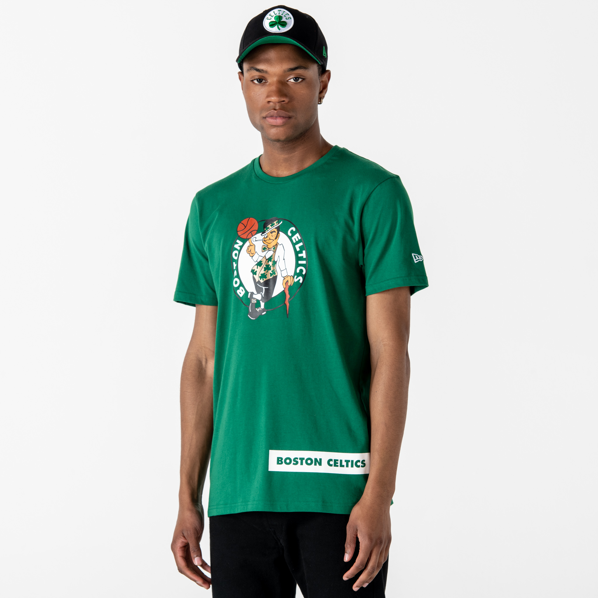 Camiseta Boston Celtics Block Wordmark, verde