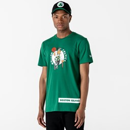 T-shirt vert inscription Boston Celtics