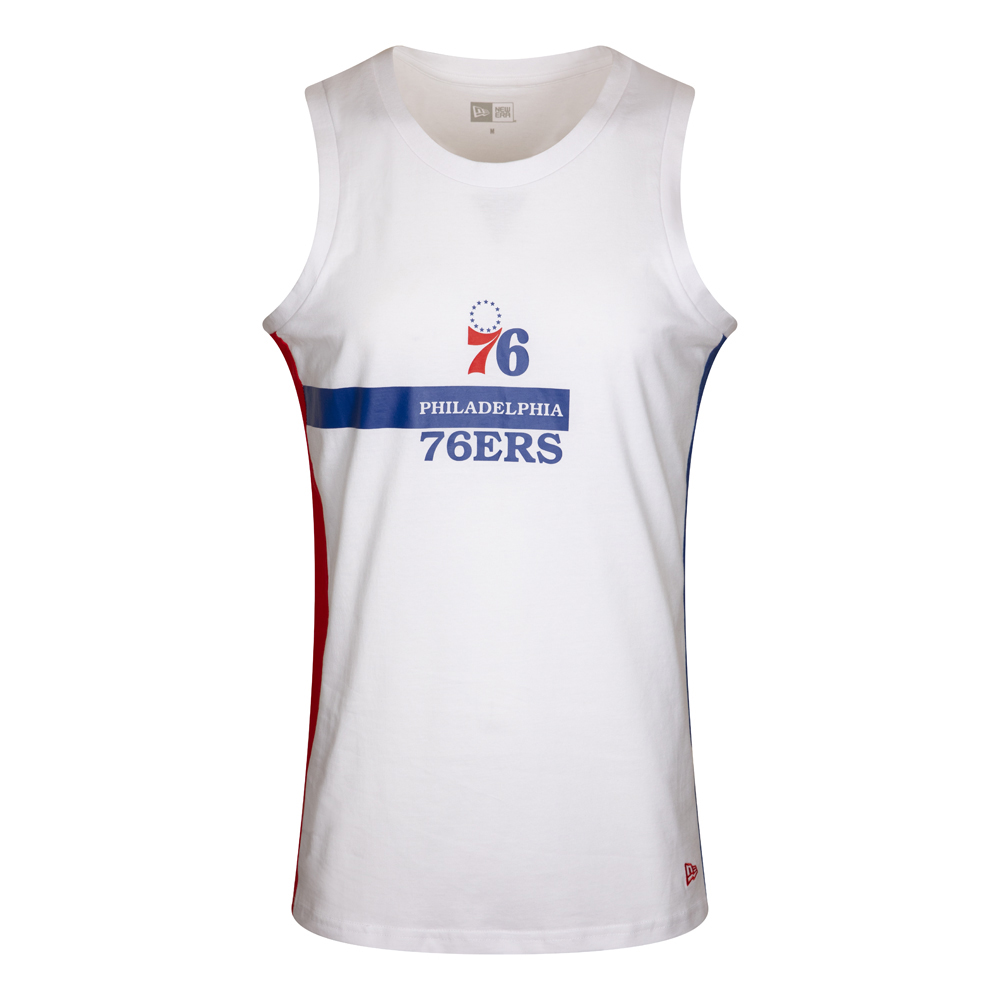 Philadelphia 76ERS Block Wordmark White Vest