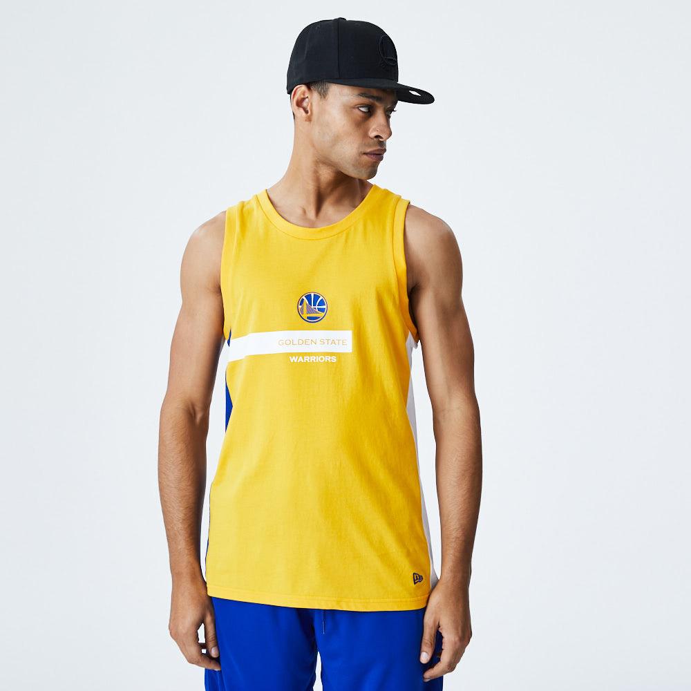 Camiseta sin mangas Golden State Warriors Block Wordmark