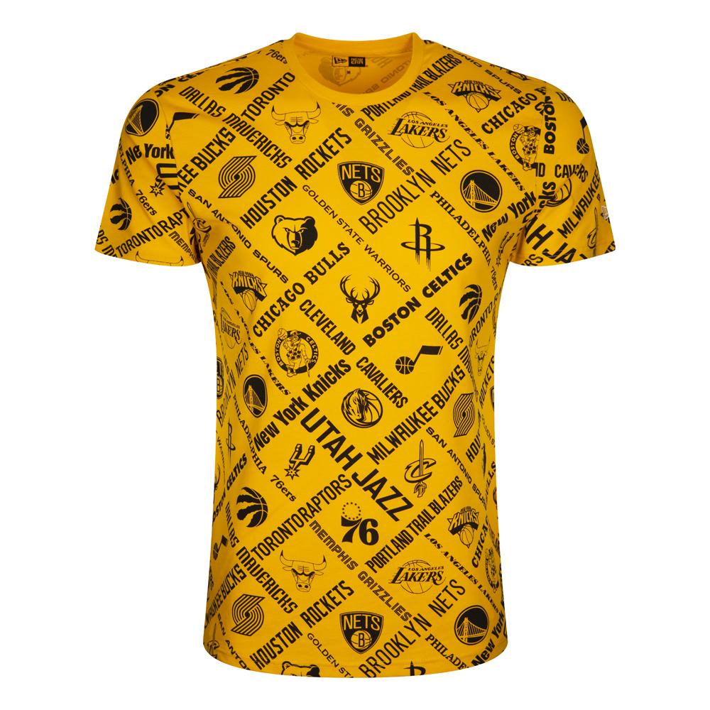 NBA – T-Shirt mit Logo – Gelb