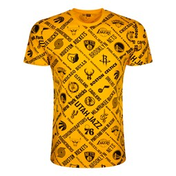 NBA Logo Yellow T-Shirt