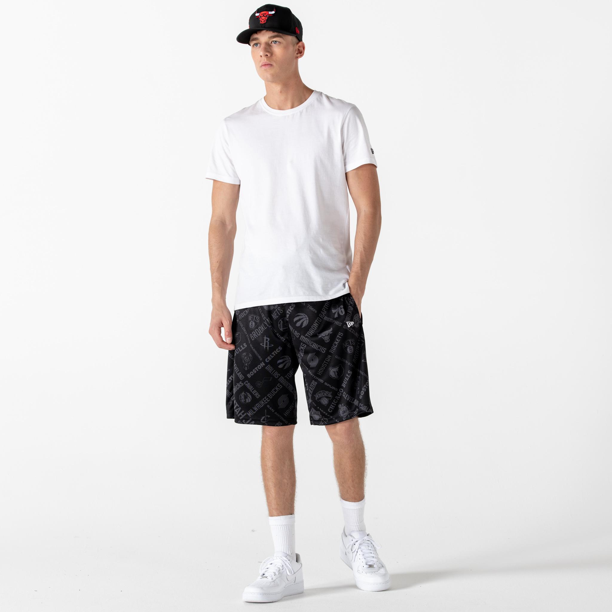 Shorts NBA All Over Print, negro