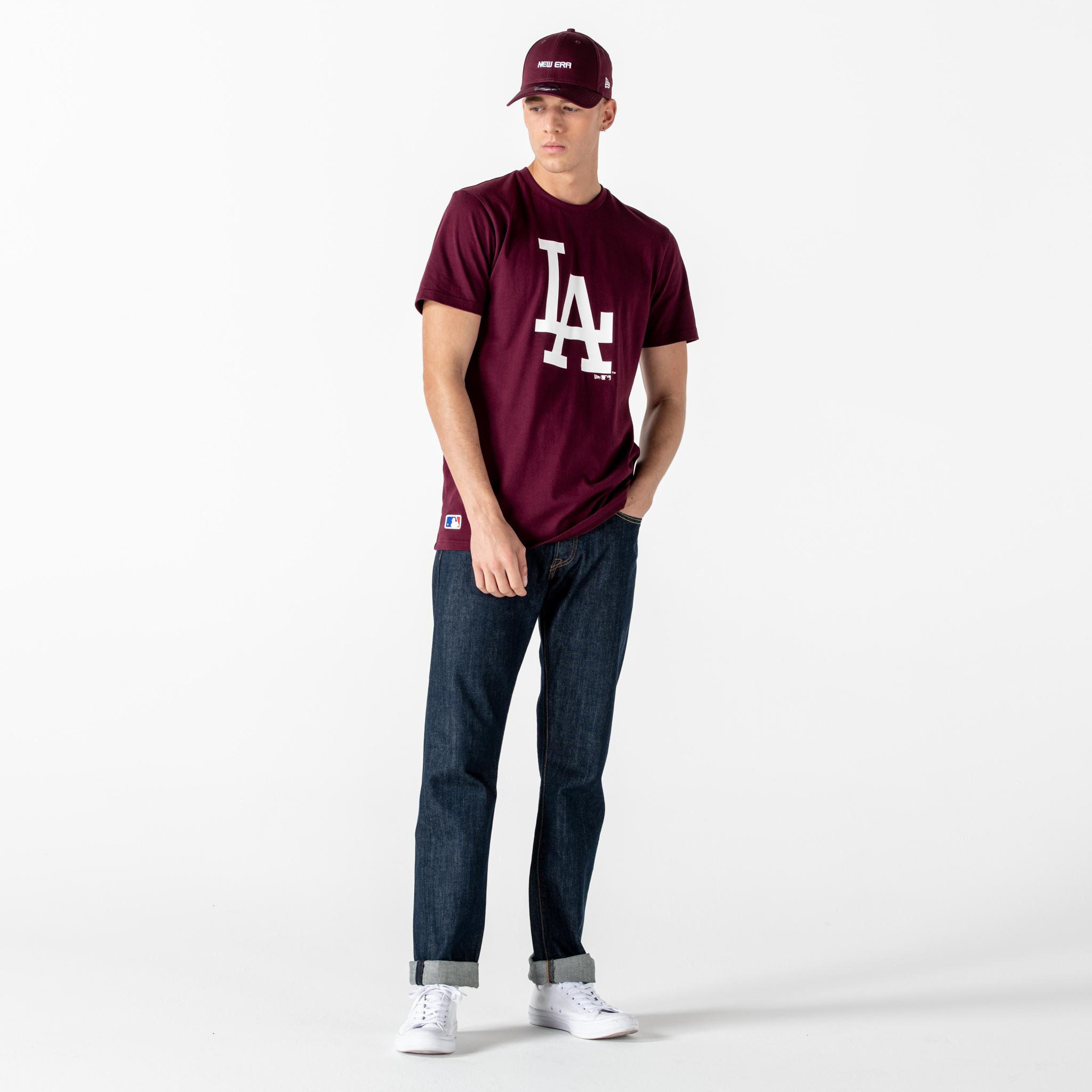 Los Angeles Dodgers - T-Shirt mit Team Logo, Rot