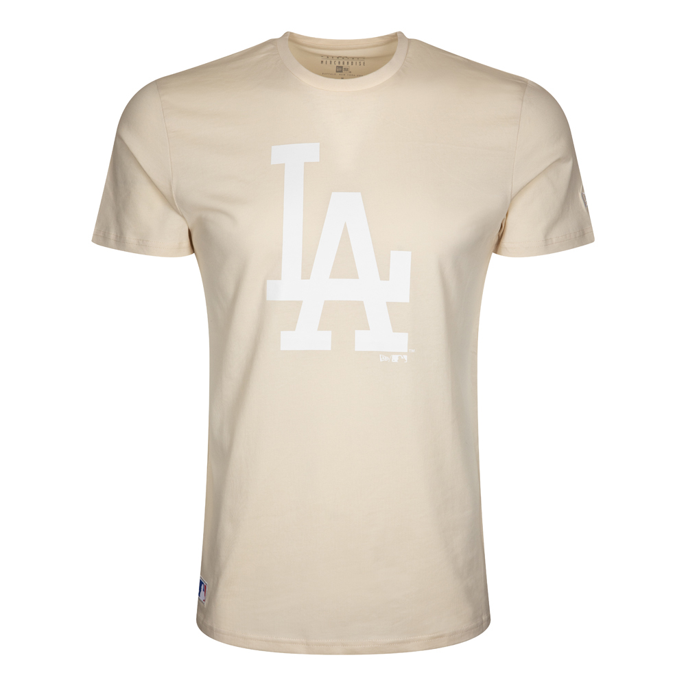 T-shirt Team Logo dei Los Angeles Dodgers rosa chiaro