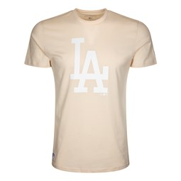 Los Angeles Dodgers Team Logo Light Pink T-Shirt