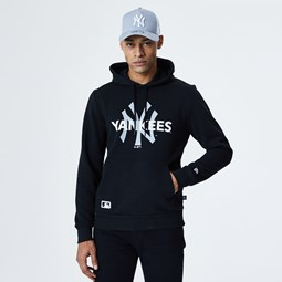 New York Yankees Wordmark Logo Black Hoodie