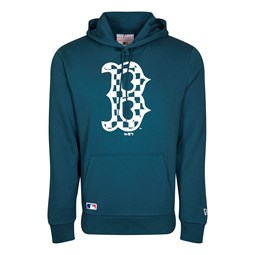 Sweat à capuche bleu à logo des Boston Red Sox