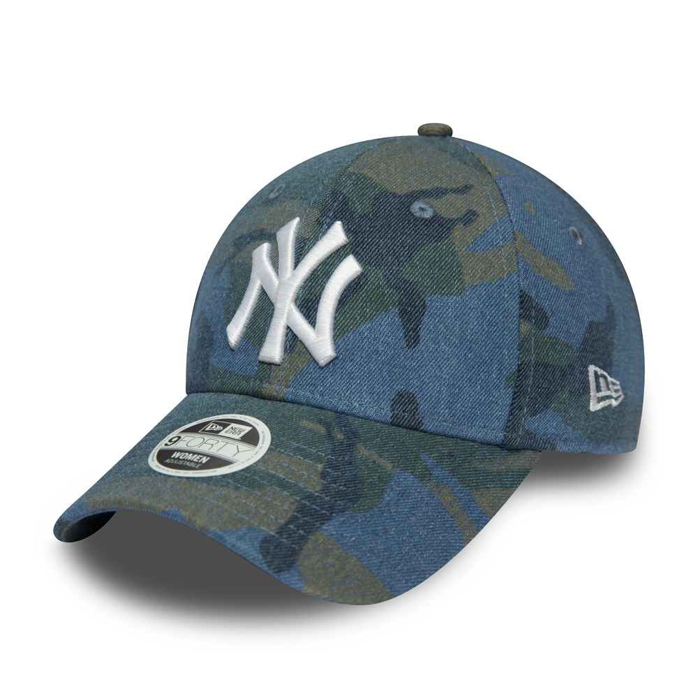 Gorra New York Yankees Camo Denim 9FORTY, mujer, azul