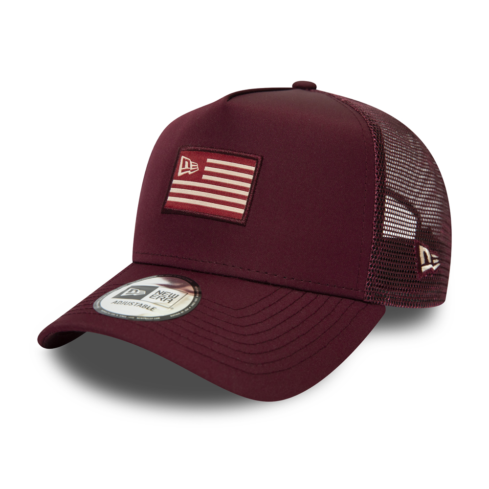 Trucker A-Frame New Era Flagged, granate