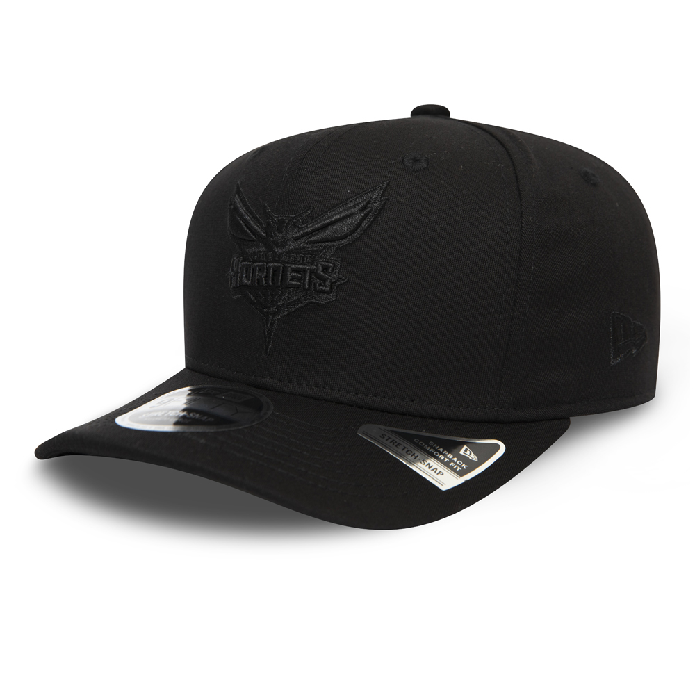 Charlotte Hornets Tonal Black Stretch Snap 9FIFTY Cap