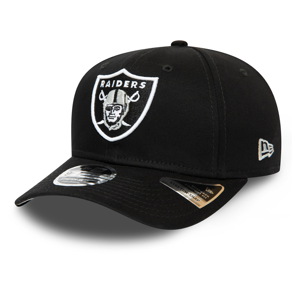 Gorra Oakland Raiders Team Stretch Snap 9FIFTY, negro